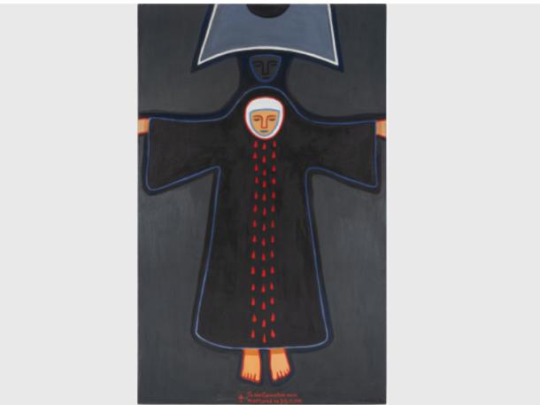 Дайна Дагния. Кармелитка. 1981. Холст, масло. Коллекция Латвийского Национального художественного музея, Рига. Фото: Валдис Ошиньш