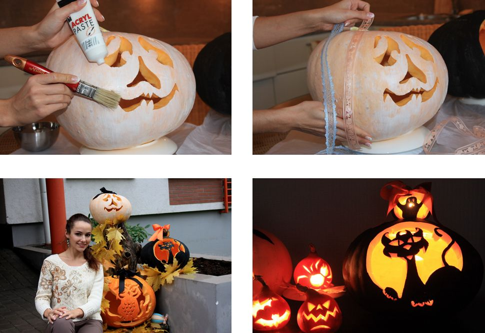 Как сделать тыкву для хэллоуина своими руками 744